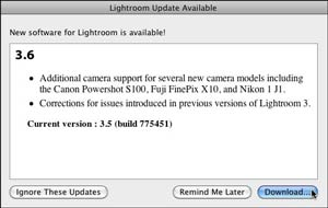 Lightroom 3.6 Update