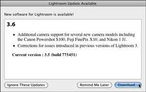 Lightroom 3.6 Update